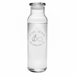 Custom Coordinates Infinity Anchor Water Bottle