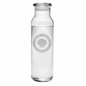 Custom Coordinates Seashell Water Bottle