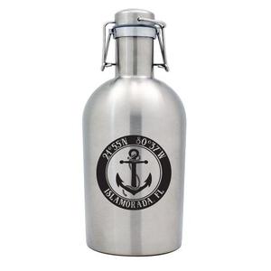 Custom Coordinates Anchor Stainless Steel Beer Growler