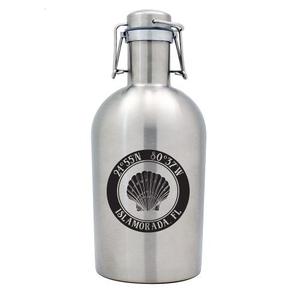 Custom Coordinates Seashell Stainless Steel Beer Growler