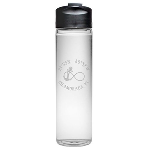 Custom Coordinates Infinity Anchor Travel Water Bottle
