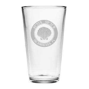 Custom Coordinates Seashell Pint Glasses S/4