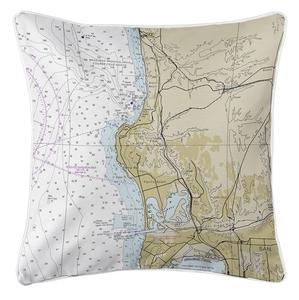 La Jolla, CA Nautical Chart Pillow