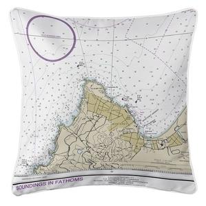 Pacific Grove, Monterey, CA Nautical Chart Pillow