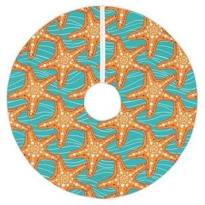 Starfish In Waves Tree Skirt