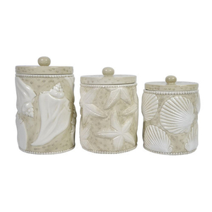 Shell Canisters (set of 3)