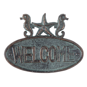 Seahorse Welcome Plaque