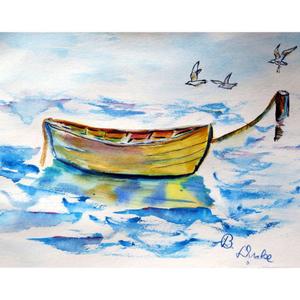 Yellow Rowboat Doormat 18X26