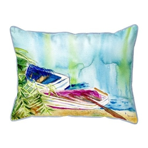 Watercolor Rowboats  Indoor/Outdoor Extra Large Pillow 20X24