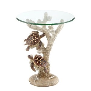 Turtle Night Light Accent Table