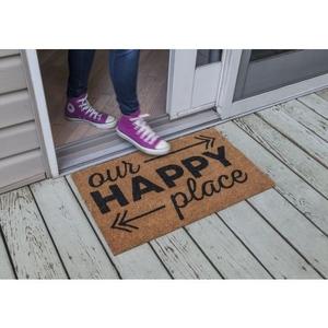 Happy Place Non Slip Coir Doormat