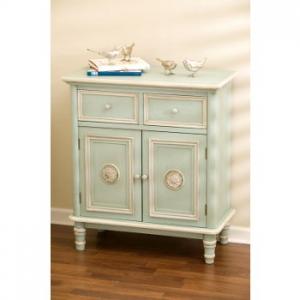 Antique Blue 2-Door Cabinet