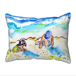 Playing in Sand Extra Large Zippered Pillow 20x24