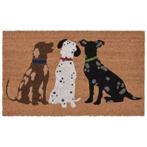 "Liora Manne Natura Three Dogs Indoor/Outdoor Mat Natural 18""X30"""
