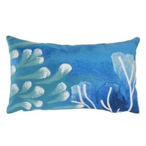 """Liora Manne Visions III Reef Indoor/Outdoor Pillow Blue 12""""X20"""""""