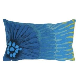 "Liora Manne Visions III Cirque Indoor/Outdoor Pillow Blue 12""X20"""