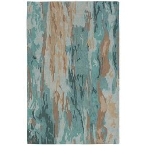 "Liora Manne Corsica Waterfall Indoor Rug Blue 5'X7'6"""