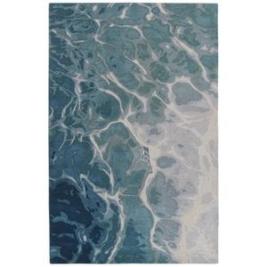 "Liora Manne Corsica Water Indoor Rug Blue 5'X7'6"""
