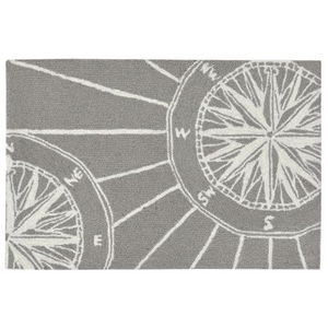 "Liora Manne Frontporch Compass Indoor/Outdoor Rug Grey 20""X30"""