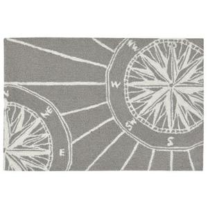 """Liora Manne Frontporch Compass Indoor/Outdoor Rug Grey 24""""X36"""""""
