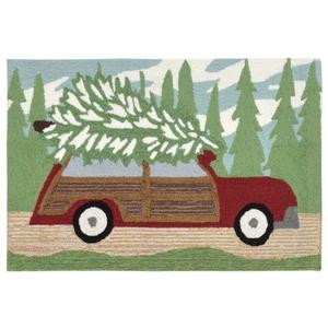"""Liora Manne Frontporch Woody Wonderland Indoor/Outdoor Rug Green 24""""X36"""""""