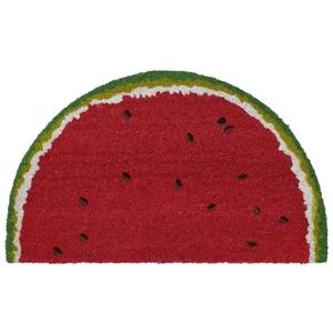 "Liora Manne Natura Watermelon Indoor/Outdoor Mat Red 18""X30"" 1/2 RD"