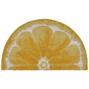 """Liora Manne Natura Lemon Outdoor Mat Yellow 18""""X30"""" 1/2 Rd"""