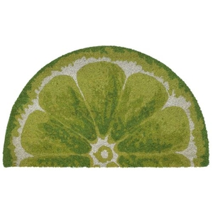 "Liora Manne Natura Lime Indoor/Outdoor Mat Green 18""X30"" 1/2 RD"