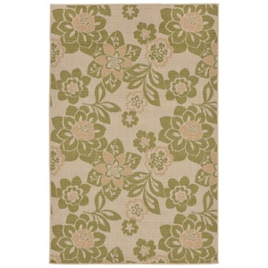"Liora Manne Terrace Garden Indoor/Outdoor Rug Green 4'10""X7'6"""