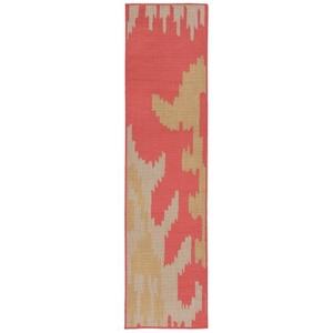 """Liora Manne Terrace Ikat Indoor/Outdoor Rug Rust 23""""X7'6"""""""