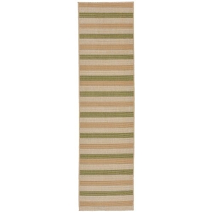 "Liora Manne Terrace Multi Stripe Indoor/Outdoor Rug Green 23""X7'6"""