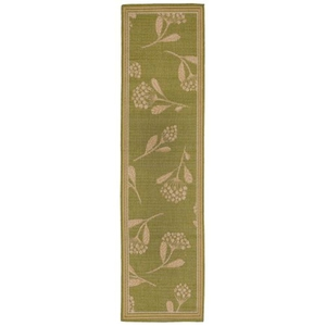 "Liora Manne Terrace Summer Flower Indoor/Outdoor Rug Green 23""X7'6"""