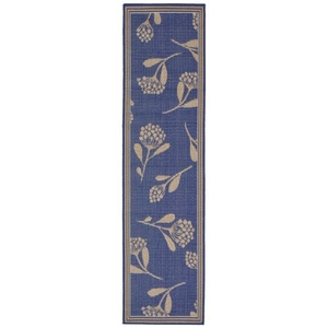 "Liora Manne Terrace Summer Flower Indoor/Outdoor Rug Blue 23""X7'6"""