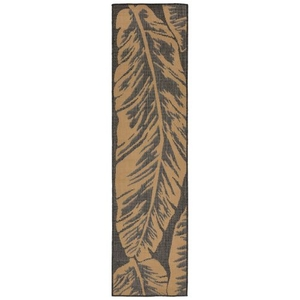 "Liora Manne Terrace Banana Leaf Indoor/Outdoor Rug Grey 23""X7'6"""