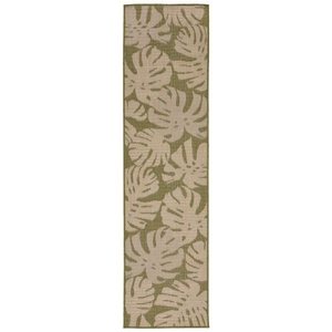 "Liora Manne Terrace Fronds Indoor/Outdoor Rug Green 23""X7'6"""