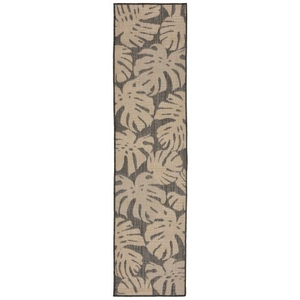 "Liora Manne Terrace Fronds Indoor/Outdoor Rug Grey 23""X7'6"""