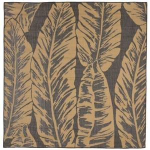"Liora Manne Terrace Banana Leaf Indoor/Outdoor Rug Grey 7'10"" SQ"