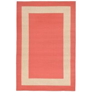 "Liora Manne Tulum Border Indoor/Outdoor Rug Orange 4'10""X7'6"""