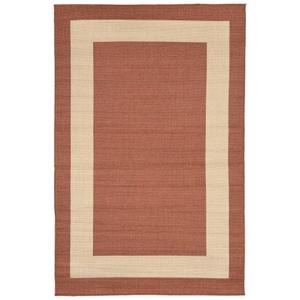"""Liora Manne Tulum Border Indoor/Outdoor Rug Rust 4'10""""X7'6"""""""