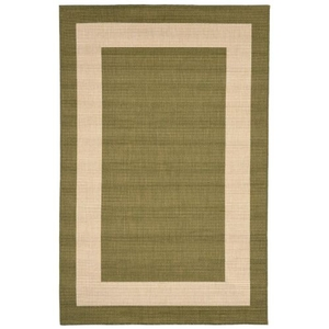 "Liora Manne Tulum Border Indoor/Outdoor Rug Green 4'10""X7'6"""