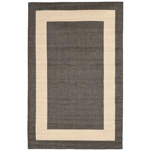 """Liora Manne Tulum Border Indoor/Outdoor Rug Grey 4'10""""X7'6"""""""