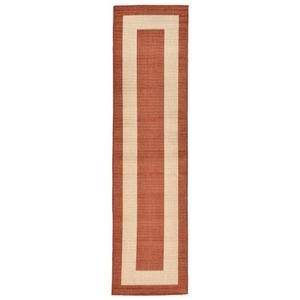 """Liora Manne Tulum Border Indoor/Outdoor Rug Rust 23""""X7'6"""""""