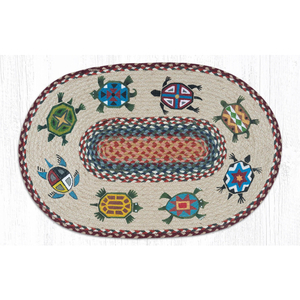 Turtle Oval Patch Rug