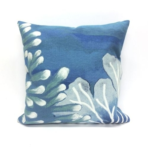 Liora Manne Visions III Reef Indoor/Outdoor Pillow Blue 20 in.  Square