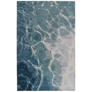 "Liora Manne Corsica Water Indoor Rug Blue 24""X7'6"""
