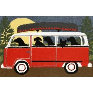 Liora Manne Frontporch Camping Trip Indoor/Outdoor Rug Red 24 in. x 60 in.