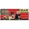 """Liora Manne Frontporch Bar Patrol Indoor/Outdoor Rug Port 24""""X60"""""""