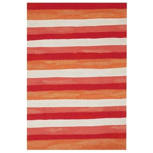 Liora Manne Visions II Painted Stripes Indoor/Outdoor Rug Red 24 in. x 36 in.