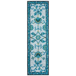 """Liora Manne Visions IV Palazzo Indoor/Outdoor Rug Blue 27""""X8'"""