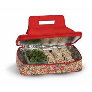 Entertainer Hot and Cold Food Carrier, Sunlight Bloom